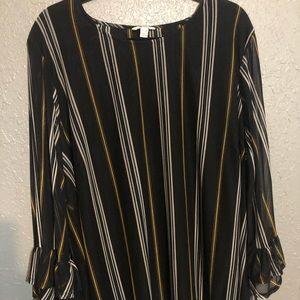 EST. 1946 Size 26/28 Black Striped Blouse